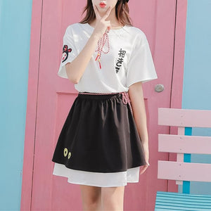 Kawaii Fortune Cat Shirt/Skirt Set SP13789