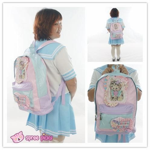 Kawaii Kitten Hand Made Soft PU Backpack SP151640 - SpreePicky  - 1