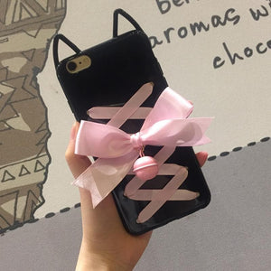 Kawaii Kitty Ears Bow Bell Phone Case SP1711013
