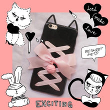 Load image into Gallery viewer, Kawaii Kitty Ears Bow Bell Phone Case SP1711013