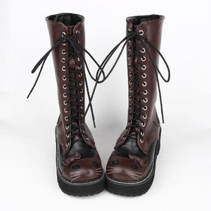 Kawaii Kitty Lolita High Boots SP1710753