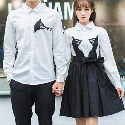 Kawaii Kitty Long Sleeve Couple Blouse SP1711035