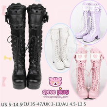 Load image into Gallery viewer, [Free Express Shipping] 4 Colors Kawaii Lace Bowknot Lolita Long Boots SP164976
