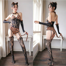 Load image into Gallery viewer, Kawaii Leopard Lace Lingerie Set SP14128