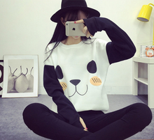 Load image into Gallery viewer, Kawaii Panda Fleece Sweater Jumper SP154568