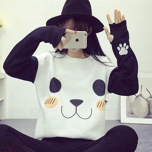 Kawaii Panda Fleece Sweater Jumper SP154568