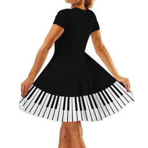 Kawaii Piano Printing Dress SP13981