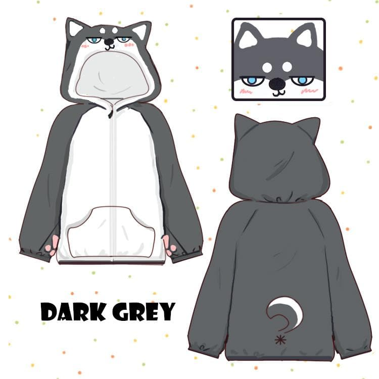 Kawaii Plush Husky Hoodie Coat SP13537