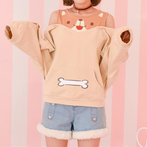 Kawaii Shiba Inu Off-Shoulder Jumper SP1710778