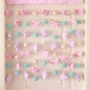 Kawaii Star Bow Decorative Curtain SP13460