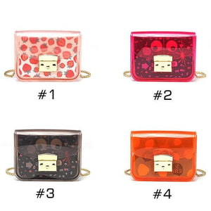 Kawaii Transparent Jelly Cross Body Bag SP13988
