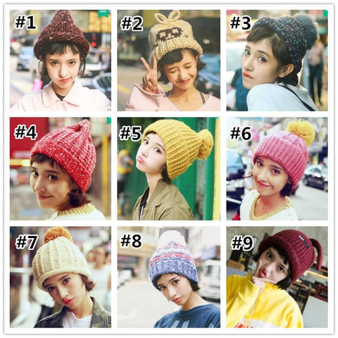 Kawaii Winter Warming Knitted Hat  SP1710825