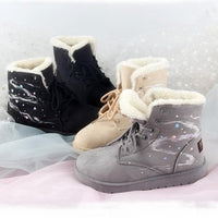Khaki/Gray/Black Warming Fleece Snow Boots SP13205