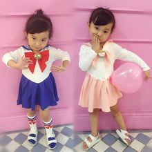 Load image into Gallery viewer, Kids Girls Sailor Moon Cosplay Seifuku Costume Princess Dress SP168347