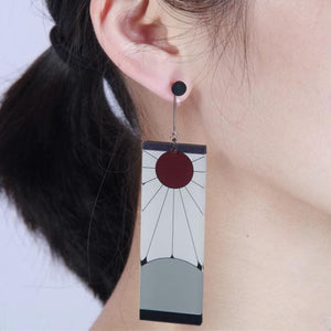 Kimetsu No Yaiba Kamado Tanjirou Demon Slayer Cosplay Earrings SP14209