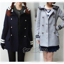 Load image into Gallery viewer, Korean Sailor High Quality Woolen Coat Double Brest SP130220