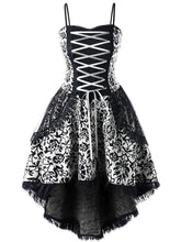 Load image into Gallery viewer, Halloween Gothic Lace Steampunk Dress