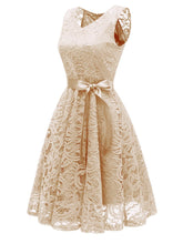 Load image into Gallery viewer, Lace Floral Bow Dress SP13898
