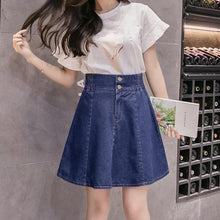 Load image into Gallery viewer, Light BlueDark Blue Sweet Denim Shorts Skirt S12738