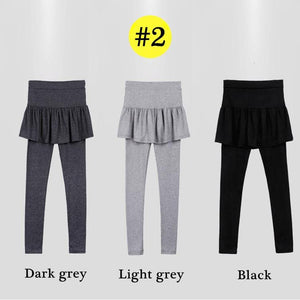 Light Grey/Dark Grey/Black Fleece Pants-Skirt SP14184