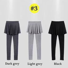 Load image into Gallery viewer, Light Grey/Dark Grey/Black Fleece Pants-Skirt SP14184