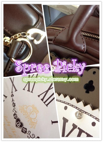 Lolita ALICE'Clock Hand Bag Alice In WonderLand Shoulder Bag 2 Way Used SP130322 - SpreePicky  - 3
