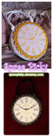 Lolita ALICE'Clock Hand Bag Alice In WonderLand Shoulder Bag 2 Way Used SP130322 - SpreePicky  - 4