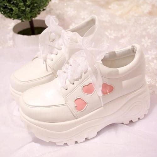 2d4dc961b0 ... Load image into Gallery viewer, Lolita Heart High Platform Sneaker Shoes  S13094 ...