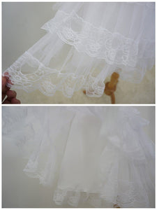 White/Black Lolita Kawaii Cute Lace 3 layers Petticoat Skirt SP130194 - SpreePicky  - 5