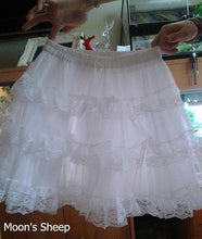 Load image into Gallery viewer, White/Black Lolita Kawaii Cute Lace 3 layers Petticoat Skirt SP130194 - SpreePicky  - 3