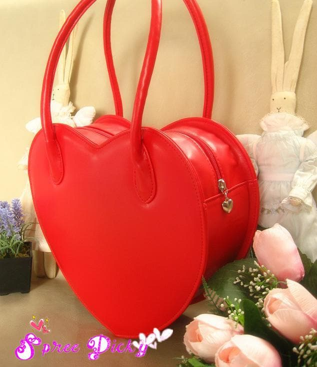 Lolita Lovely Double Sides Hearts Hand Bag SP140338 - SpreePicky  - 1