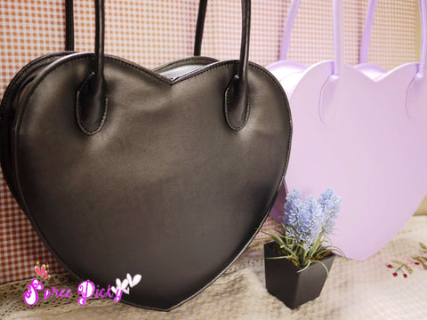 Lolita Lovely Double Sides Hearts Hand Bag SP140338 - SpreePicky  - 2