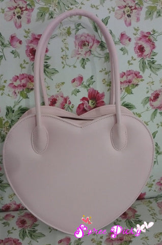 Lolita Lovely Double Sides Hearts Hand Bag SP140338 - SpreePicky  - 4
