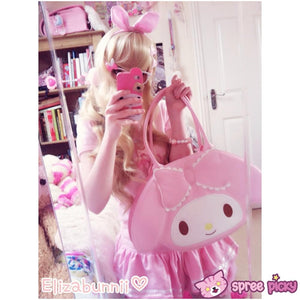 Lolita Lovely My Melody Bunny Hand Bag SP130300 - SpreePicky  - 2