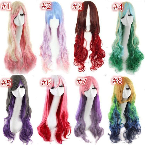 Lolita Cosplay Gradient Curly Wig SP1812564