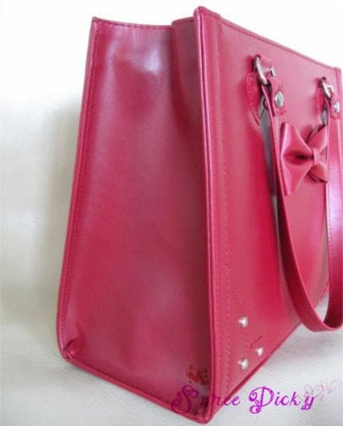 Lolita sweet bow rivet hand bag - 3 colors - SpreePicky  - 3