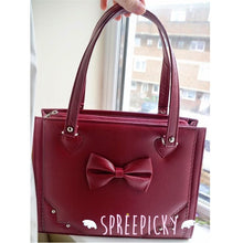 Load image into Gallery viewer, Lolita sweet bow rivet hand bag - 3 colors - SpreePicky  - 5