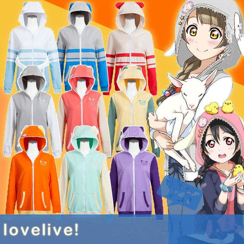 S/M LoveLive Kawaii Cosplay Hoodie Coat SP168178