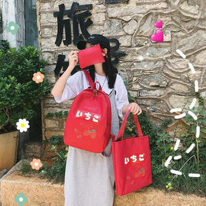 Love Strawberry Backpack SP14152