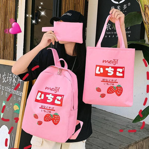 Love Strawberry Backpack