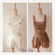 Load image into Gallery viewer, Lovely Heart Downy Woolen Strap Overalls SP140357 Kawaii Aesthetic Fashion - SpreePicky