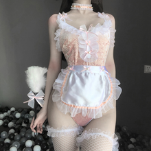 Load image into Gallery viewer, Pink Lace Lingeries Suit SP191