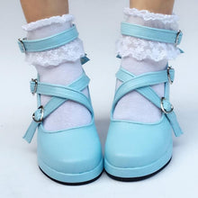 Load image into Gallery viewer, Mint/Blue/Silver Lolita Cute Bow Custom Made Shoes SP168032
