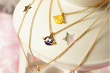 Load image into Gallery viewer, Pink/Navy/Yellow My Little Universe Planet Necklace SP152374 - SpreePicky FreeShipping