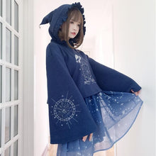 Load image into Gallery viewer, Navy Magic Starry Hoodie Jumper SP13686