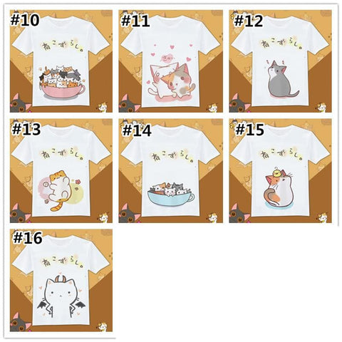 Neko Atsume Kawaii Cat Couple T-Shirt SP1710615 Page1