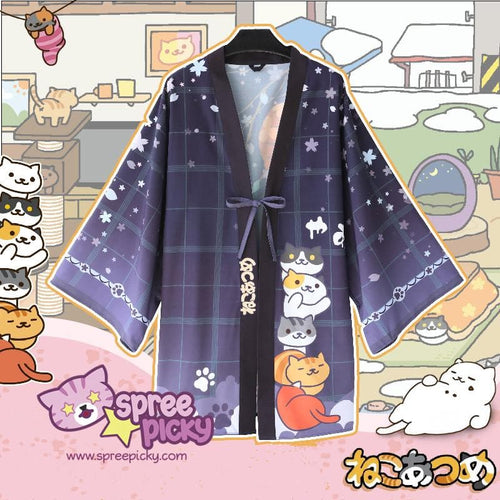 Neko Atsume Kawaii Haori Coat S13145