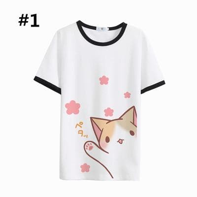 Neko Atsume S-2XL Kawaii Neko Cat T-Shirt SP166131