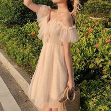 Load image into Gallery viewer, Beige Falbala Laced Tulle Dress SP13585
