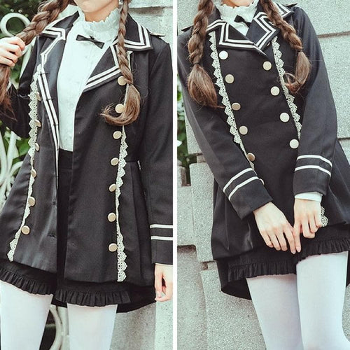 {Normal Version}Elegant Military Lolita Jacket Coat SP1711220